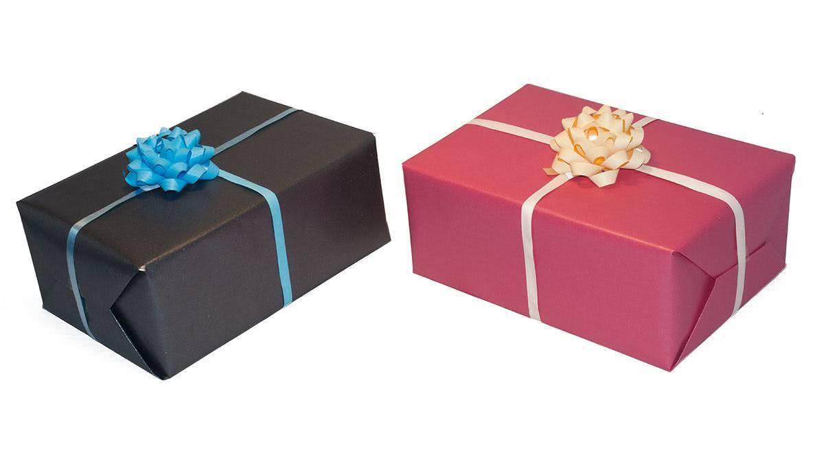 Darilni paketi zaviti za moškega in žensko