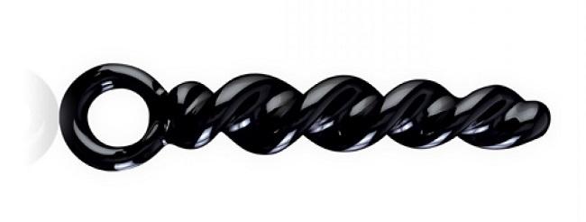 Črn steklen dildo